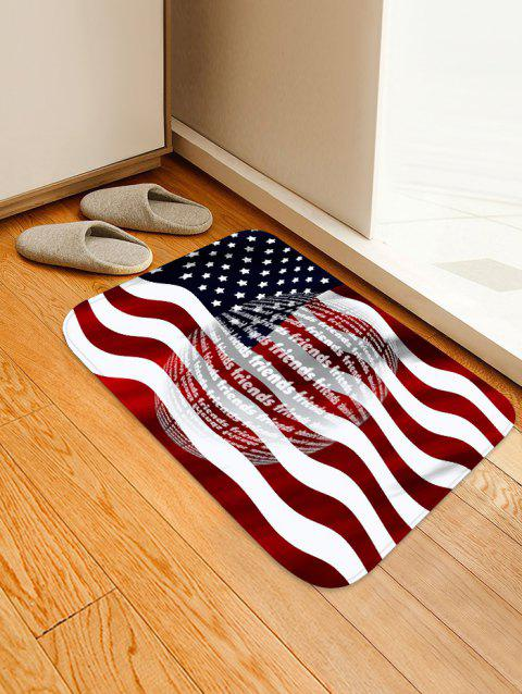 American Flag Pattern Water Absorption Area Rug - RED WINE W16 X L24 INCH