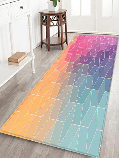 3D Geometric Pattern Design Floor Mat - multicolor W24 X L71 INCH