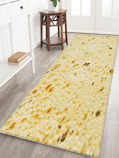 Tortilla Pattern Water Absorption Area Rug - CORNSILK W24 X L71 INCH