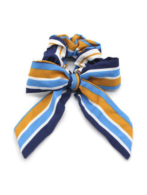 Striped Bow Elastic Hair Band Scrunchies - BEE YELLOW