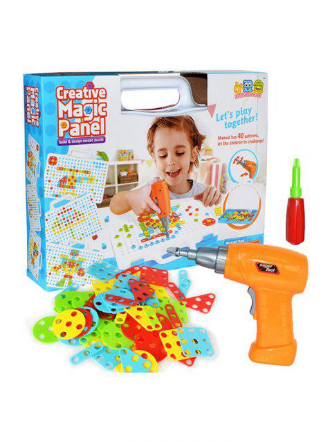 Hands-on Electric Screw Puzzle Building Blocks Toolbox Nut Combination Disassembly Educational Toys - multicolor A