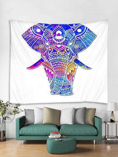 Colorful Boho Elephant Print Tapestry Wall Hanging Art Decoration - multicolor W71 X L71 INCH