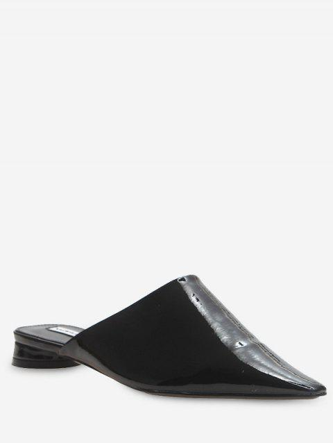 Pointed Toe Half Slides - BLACK EU 38