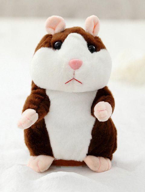 Talking Sound Record Hamster Plush Toy - DEEP BROWN