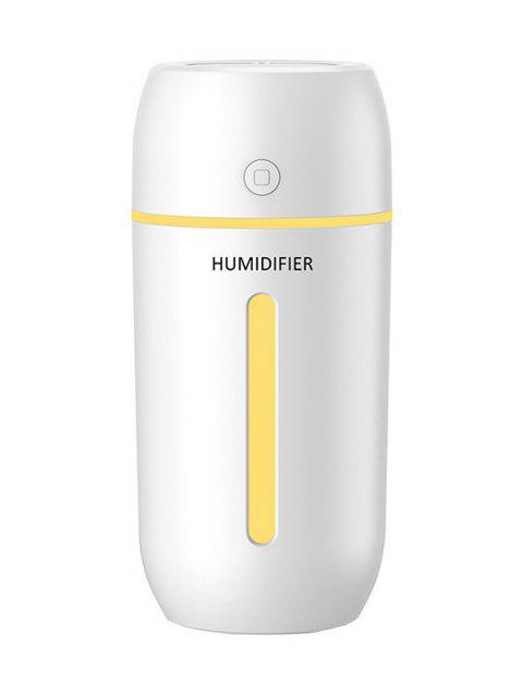 2W 5V USB Mini Cylinder Humidifier with Night Light - WHITE