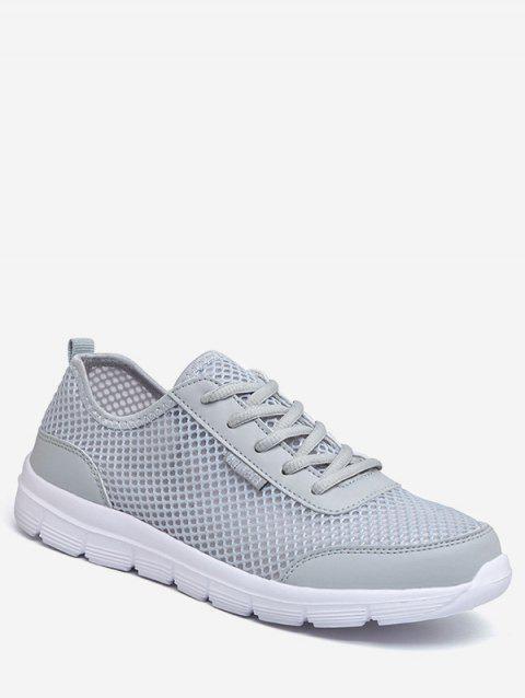 Lace-up Design Lightweight Sport Sneakers - LIGHT GRAY EU 46