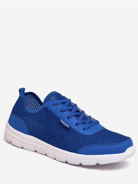 Lace-up Design Lightweight Sport Sneakers - DEEP BLUE EU 45