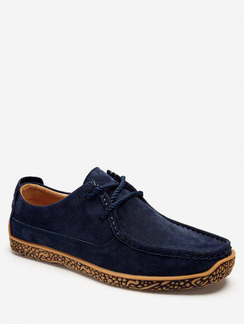 Moc Toe Suede Comfortable Shoes - DEEP BLUE EU 42