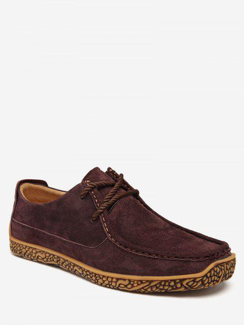 Moc Toe Suede Comfortable Shoes - RED WINE EU 42