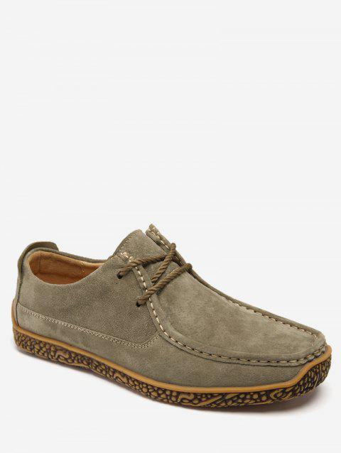 Moc Toe Suede Comfortable Shoes - LIGHT KHAKI EU 40
