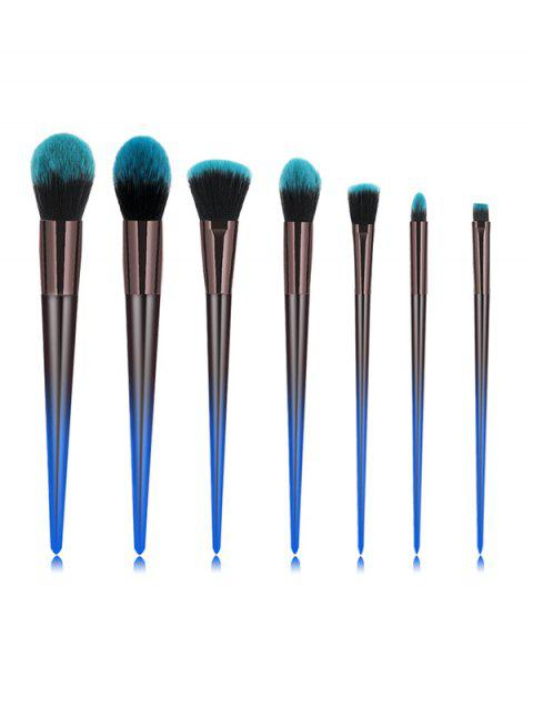 7Pcs Professional Fine Makeup Brush Set - OCEAN BLUE