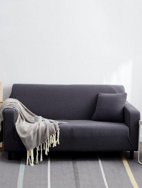 Solid Color Couch Cover - SMOKEY GRAY TWO SEATS