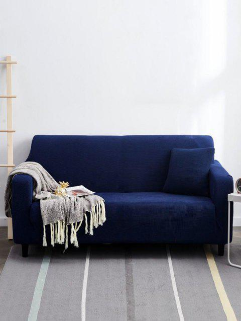 Solid Color Couch Cover - BLUEBERRY BLUE TWO SEATS