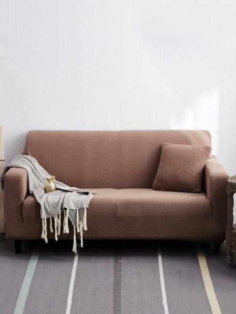Solid Color Couch Cover - BROWN SUGAR TWO SEATS