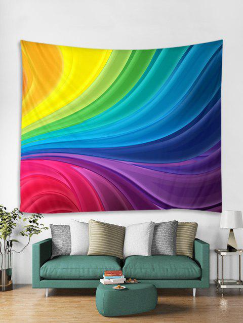 Colorful Printed Tapestry Wall Hanging Art Decoration - multicolor W71 X L91 INCH