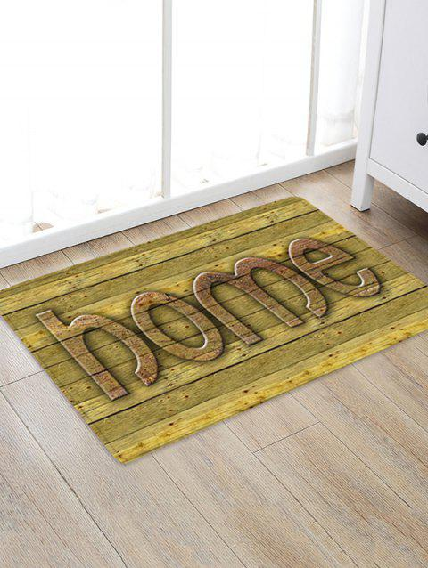 Wooden Home Design Floor Mat - FALL LEAF BROWN W20 X L31.5 INCH
