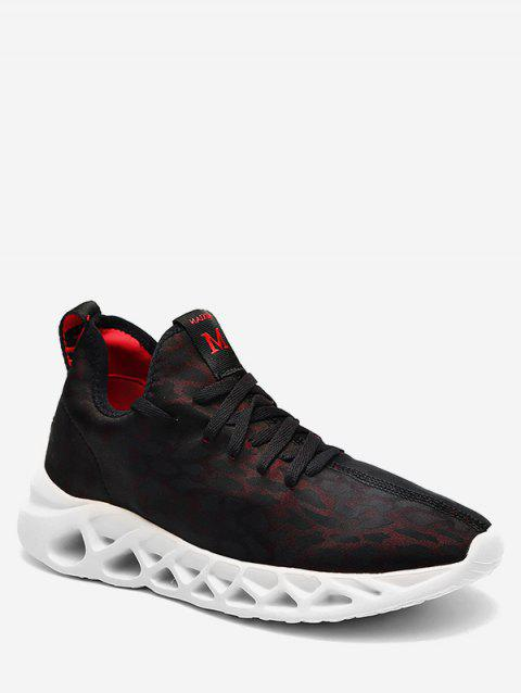 Hollowed Breathable Mesh Running Shoes - RED EU 43
