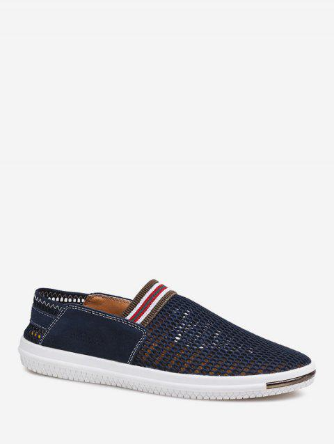 Hollowed Mesh Breathable Loafer Shoes - DEEP BLUE EU 44