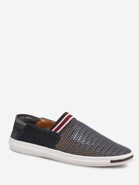 Hollowed Mesh Breathable Loafer Shoes - GRAY EU 41