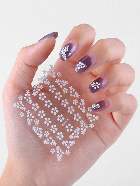 30Pcs Small Flower 3D Nail Stickers - WHITE