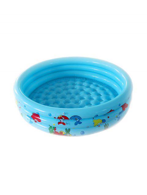 Aquatic Animals Pattern Children Inflatable Water Pool - BLUE