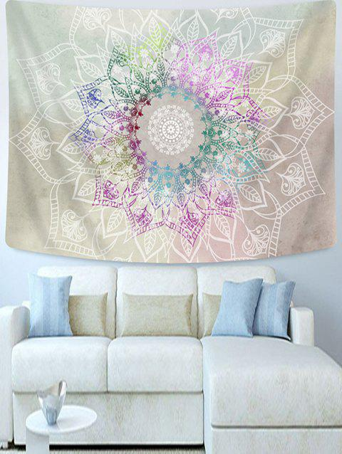 Colorful Flowers Printed Tapestry Wall Hanging Art Decoration - GRAY GOOSE W51 X L59 INCH