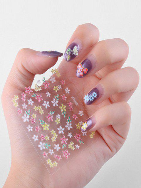 30Pcs Small Flower Nail Decorated Stickers - multicolor A