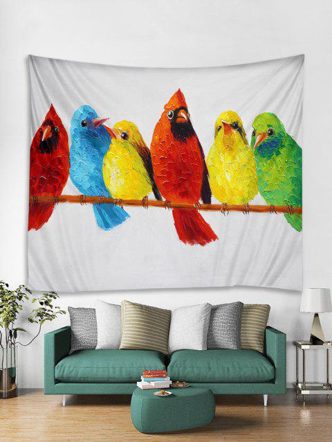 Colorful Birds Printing Print Tapestry Wall Hanging Art Decoration - multicolor W71 X L79 INCH