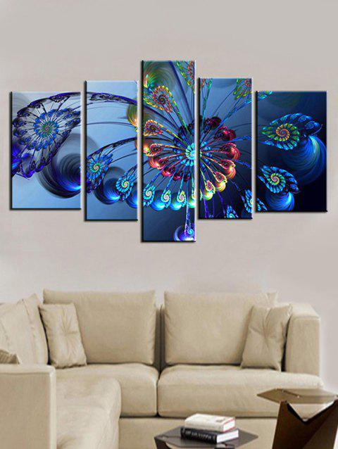 Abstract Butterfly Print Unframed Split Canvas Paintings - BLUE 1PC X 8 X 22,2PCS X 8 X 14,2PCS X 8 X 18INCH( NO F