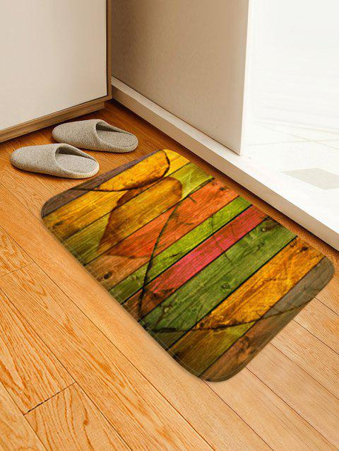Wooden Love Heart Design Floor Mat - GOLDENROD W16 X L24 INCH
