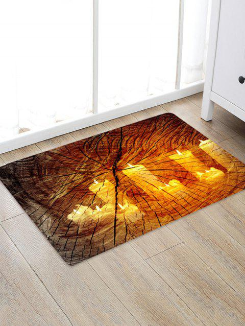 3D Print Wood Grain Candle Area Rug - SANDY BROWN W20 X L31.5 INCH