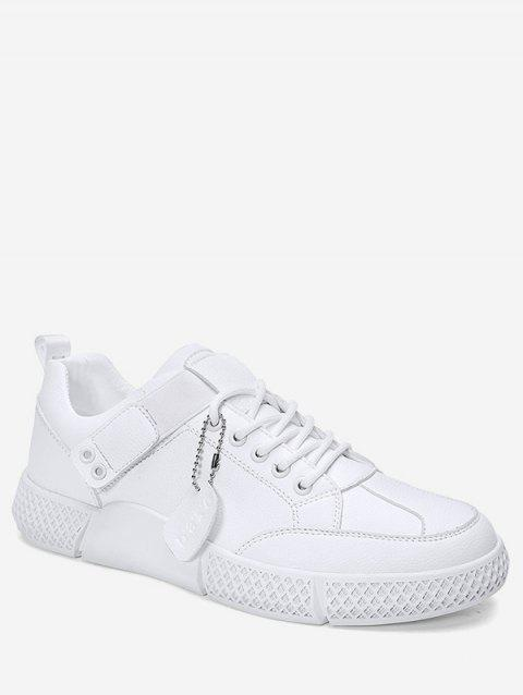 Lace-up Decoration Casual Shoes - WHITE EU 44