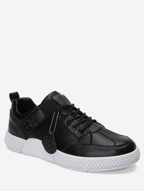 Lace-up Decoration Casual Shoes - BLACK EU 43