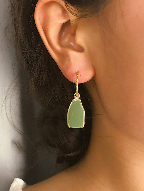 Irregular Dangle Earrings - GREEN