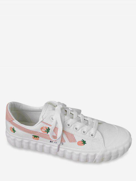 Sweet Strawberry Canvas Shoes - PINK EU 38