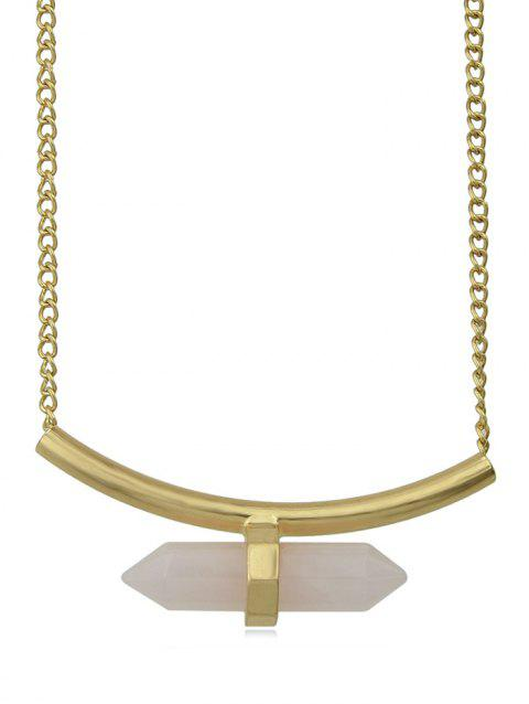 Faux Crystal Bullet Chain Necklace - LIGHT PINK