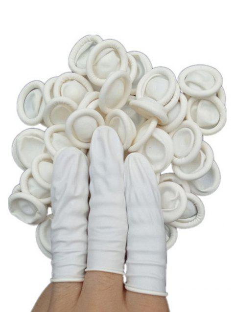 100Pcs Disposable Anti-static Finger Cover - CRYSTAL CREAM