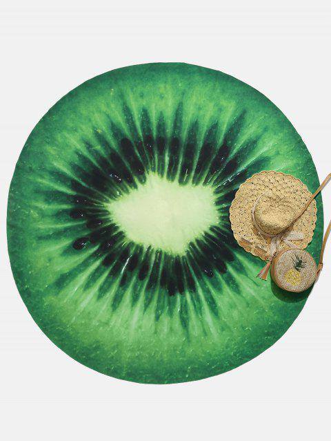 Kiwi Fruit Circle Summer Sunbath Beach Throw - GREEN APPLE ONE SIZE