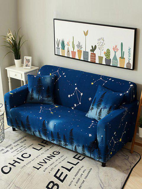 Starry Sky Tree Print Couch Cover - COBALT BLUE TWO SEATS