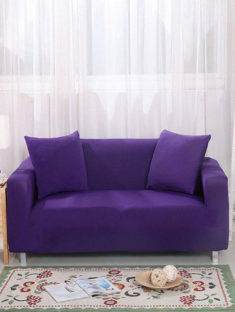 Simple Solid Color Couch Cover - PURPLE IRIS TWO SEATS