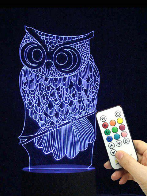 Owl Shape Color Changing LED Night Light - TRANSPARENT