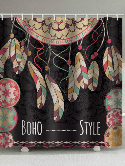 Boho Dreamcatcher Print Waterproof Bathroom Shower Curtain - multicolor W59 X L71 INCH