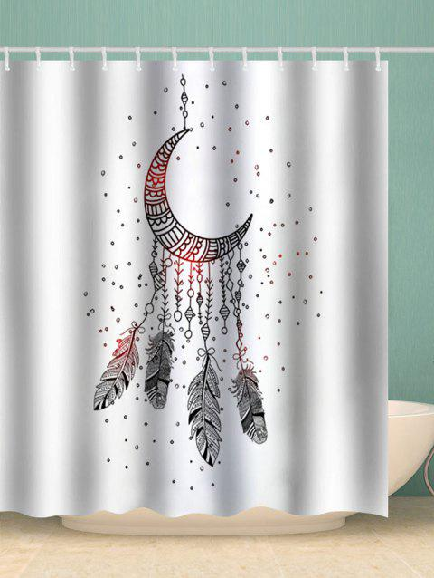 Moon Dreamcatcher Print Waterproof Bathroom Shower Curtain - multicolor W71 X L79 INCH