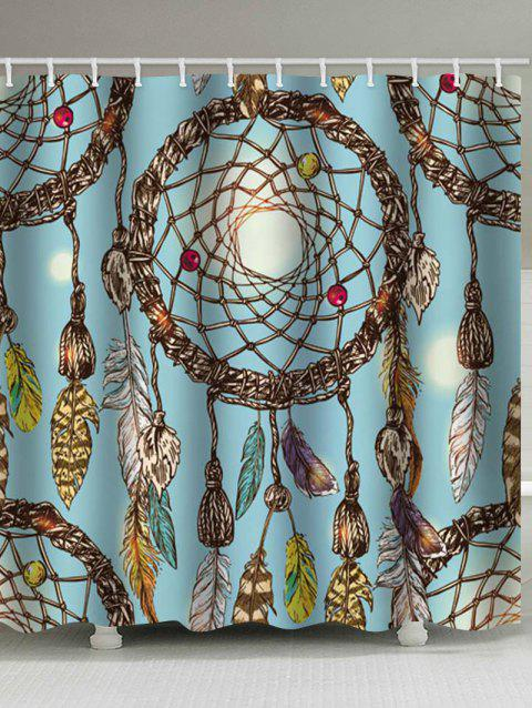 Dream Catcher Print Waterproof Bathroom Shower Curtain - multicolor W71 X L79 INCH