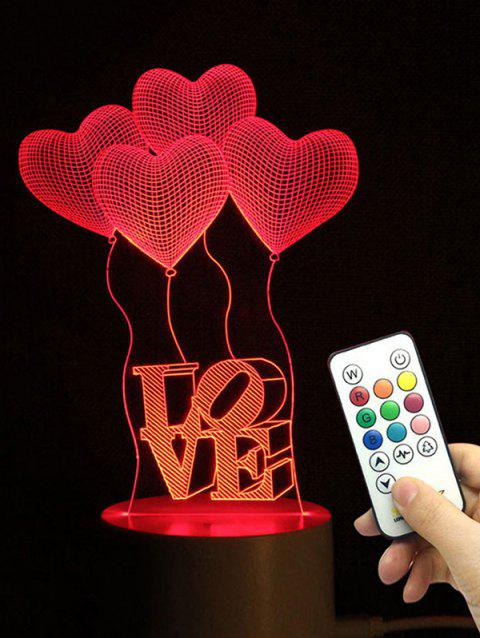 Heart Balloon Love Shape Color Changing LED Night Light - TRANSPARENT