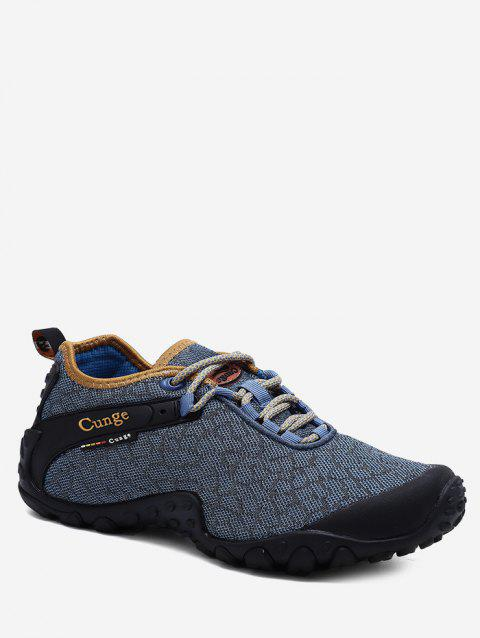 Printed Mesh Breathable Casual Shoes - BLUE GRAY EU 43