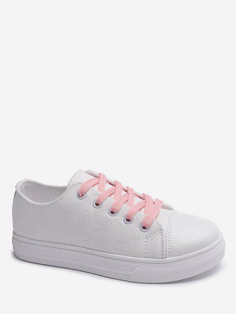 Casual Solid Color Design Shoes - WHITE EU 35