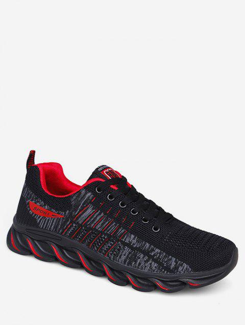 Lace-up Design Breathable Sneakers - RED EU 44
