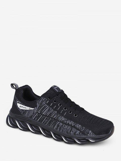 Lace-up Design Breathable Sneakers - WHITE EU 42