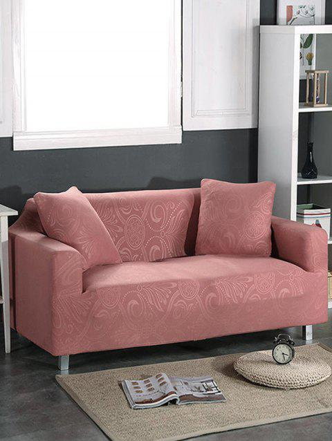 Dark Pattern Couch Cover - KHAKI ROSE TWO SEATS
